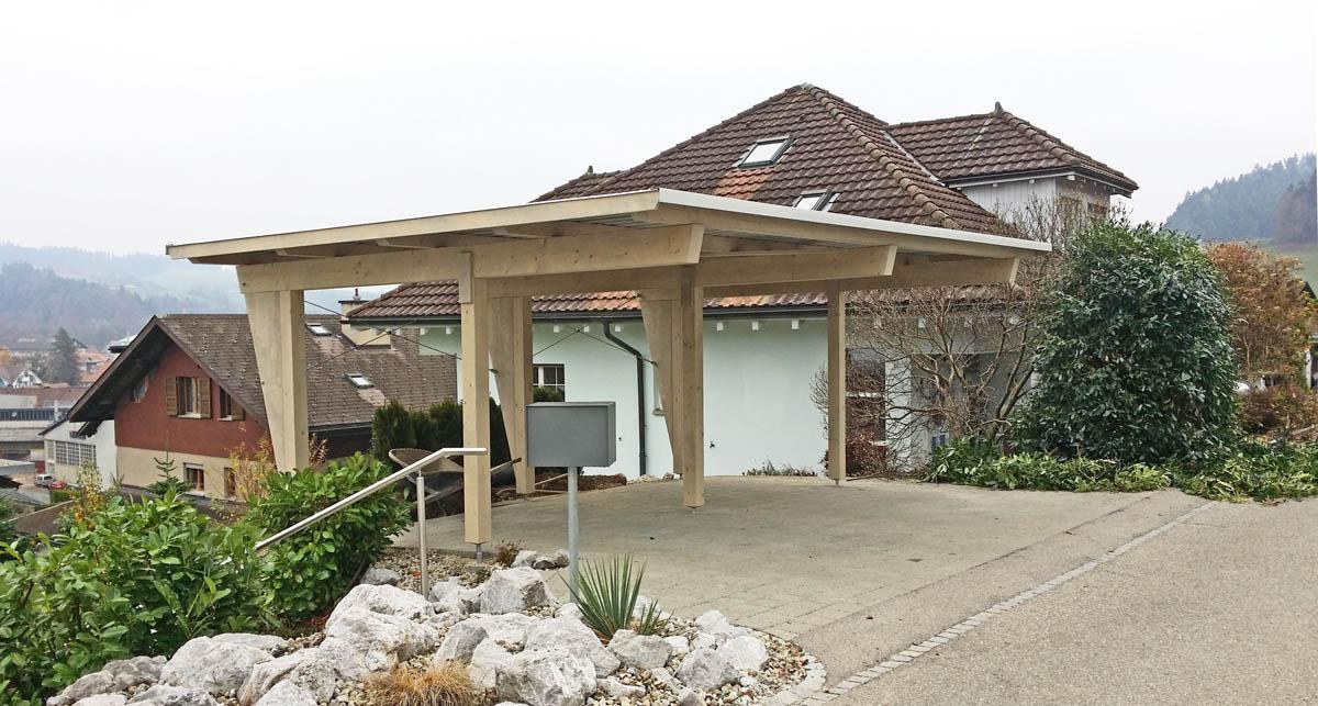 Holzbau carport pergola unterstand veranda pavillon